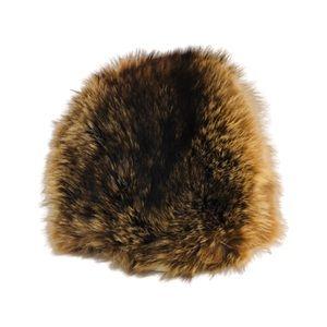 Vintage Genuine Chestnut Fox Fur Winter Hat lined